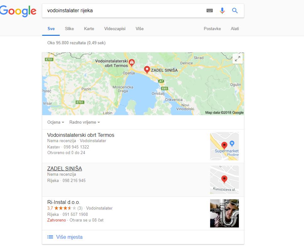 Lokalni SEO je user-first; dakle Google koristi lokaciju korisnika kako bi mu prikazao najrelevantnije rezultate