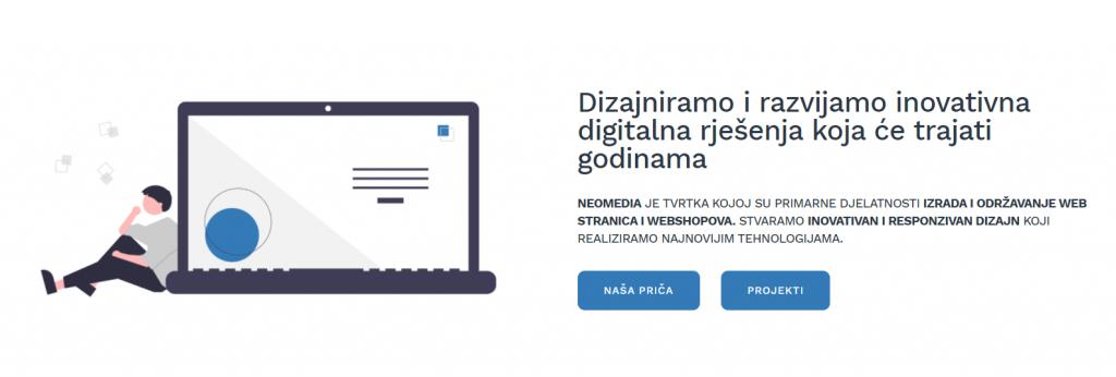 tvrtka neomedia se bavi izradom web stranica